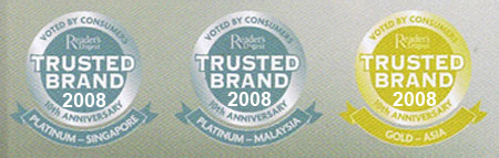 Reader Digest Trusted Brand 2010 Awards